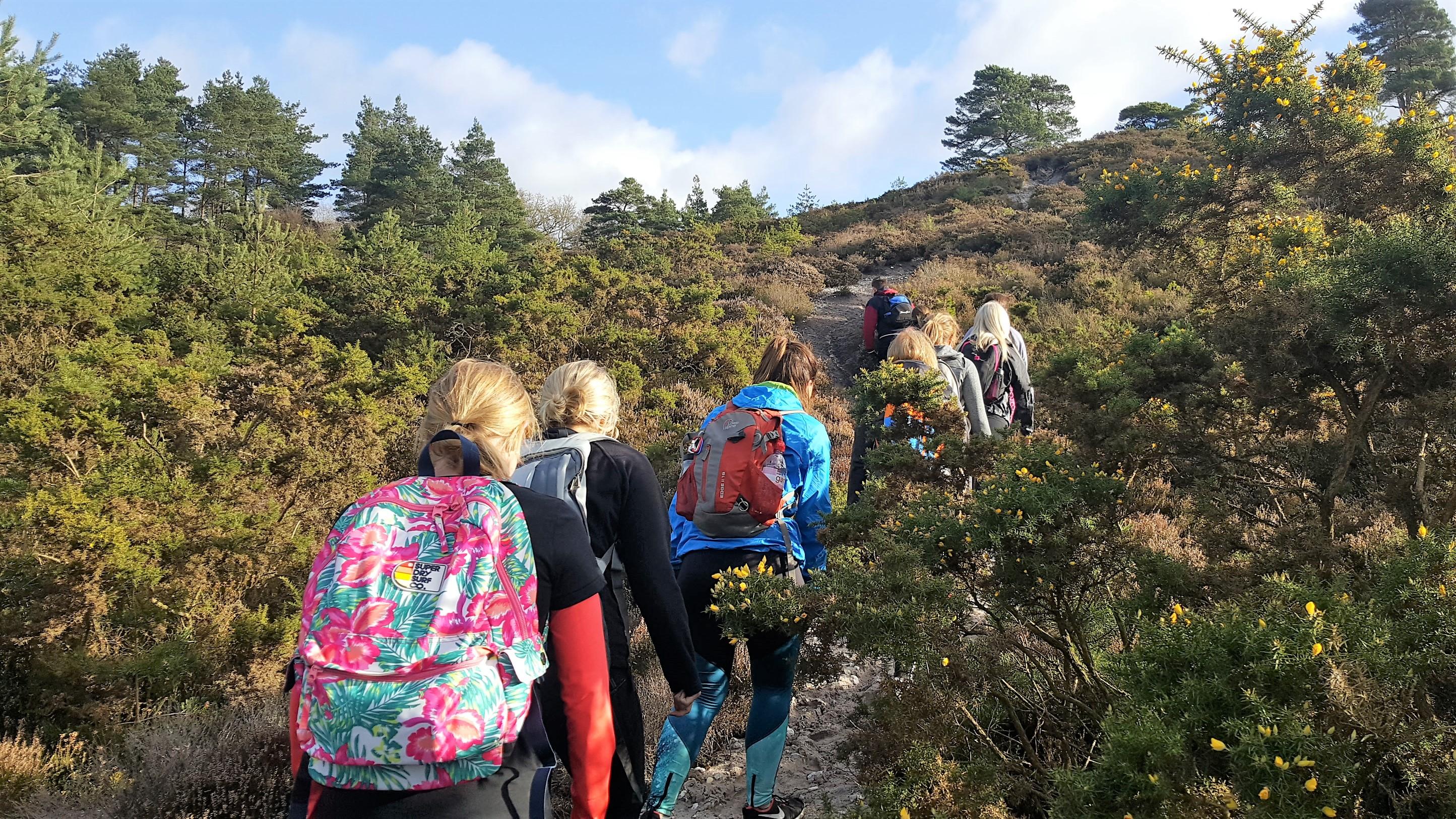 fitness retreat hike